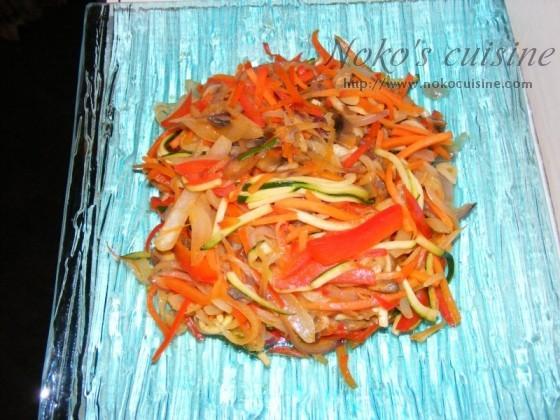 Veggies on a glass plate