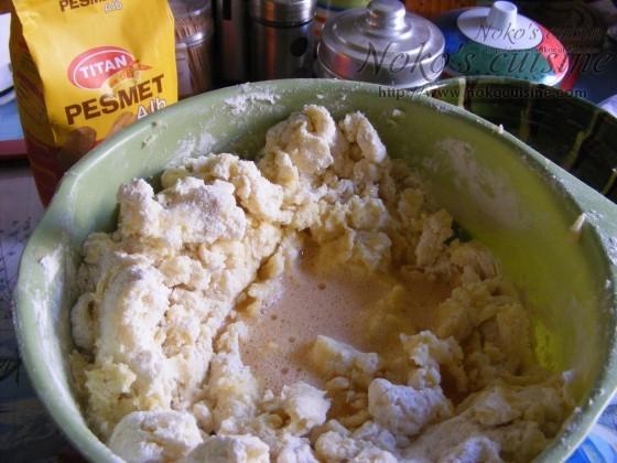 Dough... adding the egg