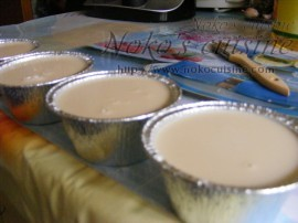 Cups filled with the mixture