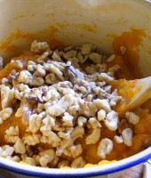 Add the walnuts and mix well