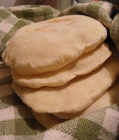The first 5 pita bread
