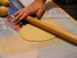 roll the dough into very thin circles