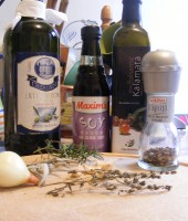 These are the ingredients for the marinade
